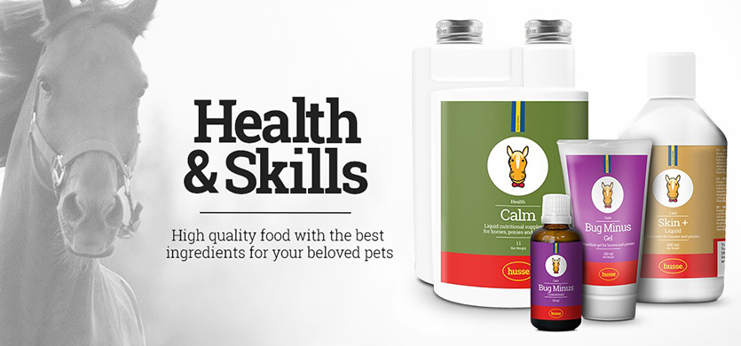 Husse Horse products - Health & Skills - High quality food with the best ingredients for your beloved pets