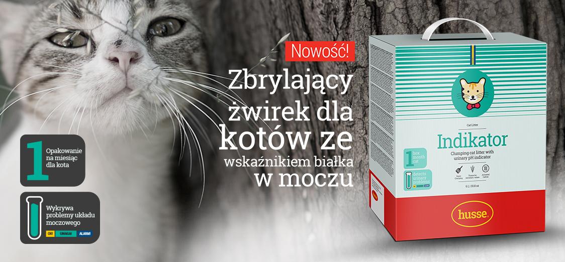 Indikator - żwirek dla kotów ze wskaźnikiem pH moczu