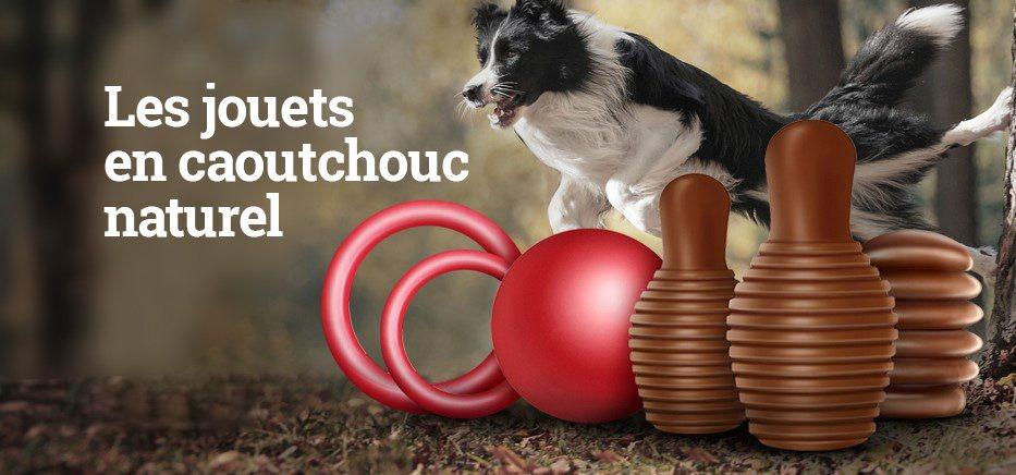 Jouets en caoutchouc naturel pour chien