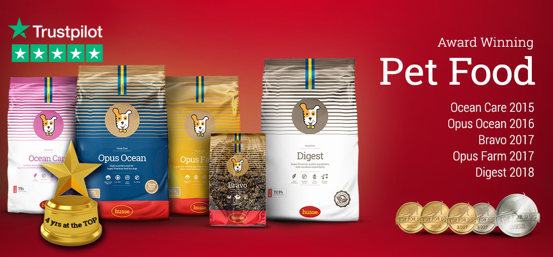Husse - awarded pet food