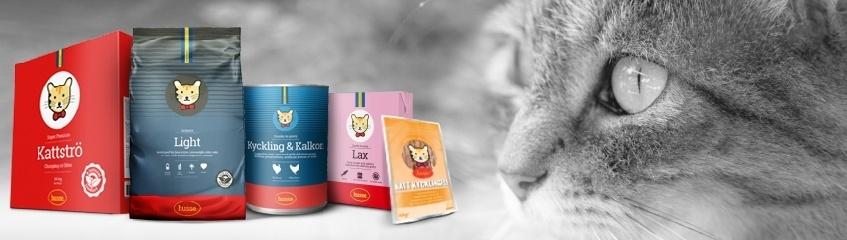 Kattfoder och kattprodukter