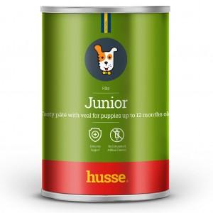 Консервы JUNIOR PATE, для щенков, 400 г, Husse