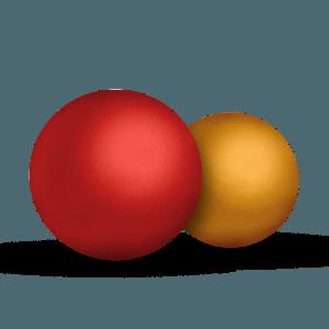 pelota roja o amarilla de goma natural para perros Boll: S