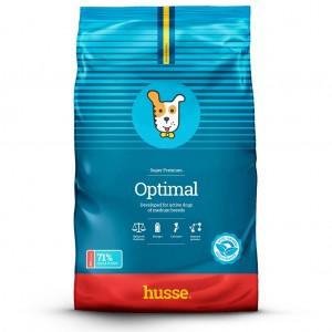 saco azul de pienso para perros de alta actividad con la bandera sueca y una franaja roja husse, Optimal: 15 kg
