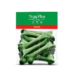 bolsa de huesos verdes de te, limpiadores dentales para perros, Tugg Plus: S