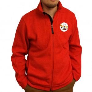 Red Fleece Sweater, M