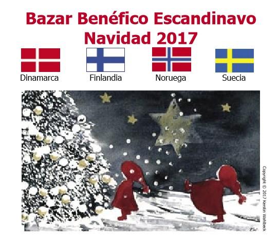 Bazar navideño escandinavo en Madrid