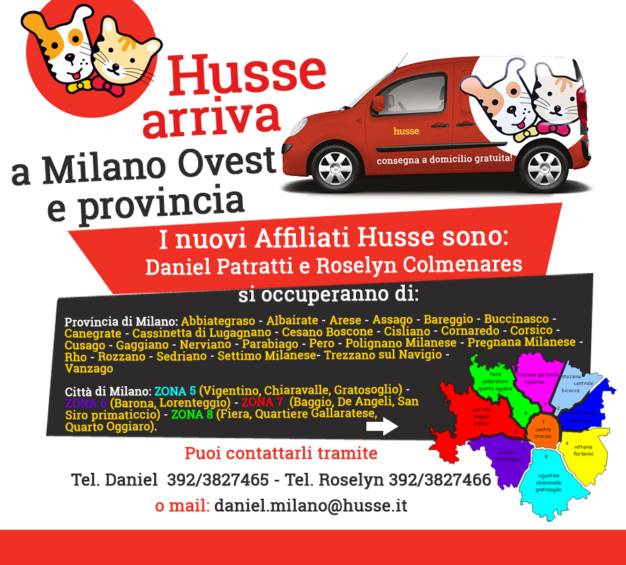 Husse arriva in provincia di Milano