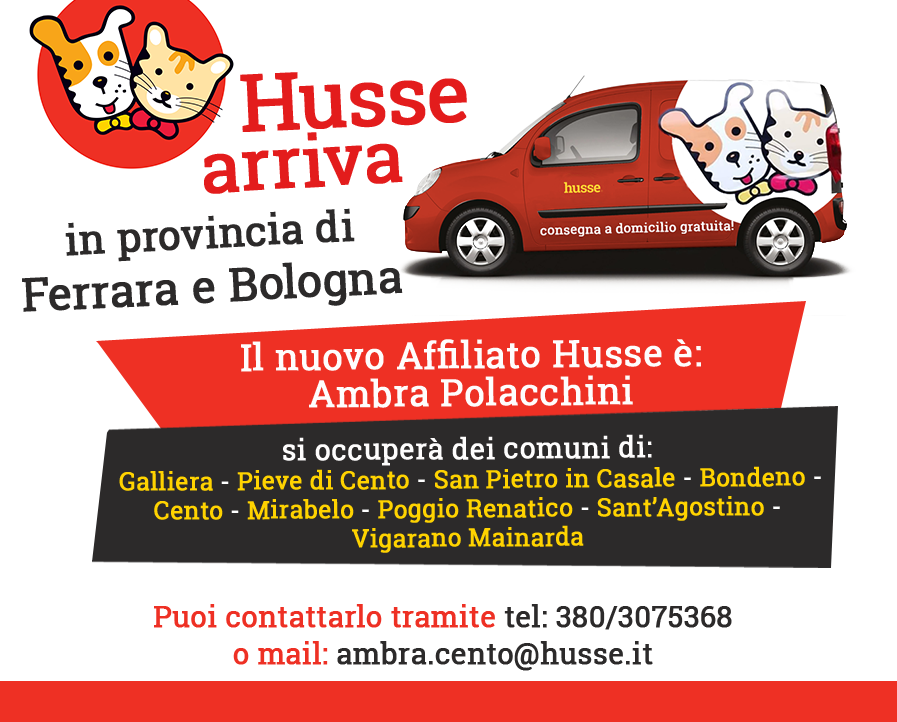 Husse arriva nelle province di Ferrara e Bologna