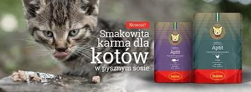 Nowość! Przepyszna mokra karma w saszetkach - Husse Aptit dla kotów.
