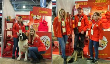 Husse took part in Dog Show