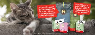 Promocja! Sucha karma z linii Exclusive + mokra karma gratis!