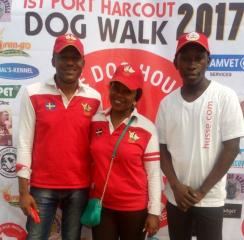 Husse attended Port Harcourt Dog Walk in Nigeria