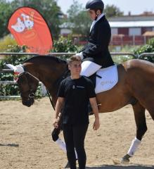 HUSSE ATTENDED INTERNATIONAL JUMPING COMPETITION IN FRANCE