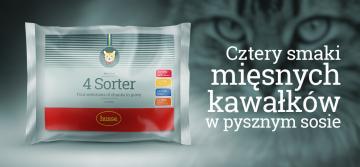 4 Sorter - kompletna, mokra karma w 4 smakach dla kotów!