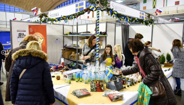 HUSSE SERBIA WITH SWEDISH EMBASSY TOOK PART IN DIPLOMATIC CHARITY BAZAAR