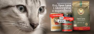 Nowość! Bezzbożowa karma Husse Opus Lynx dla kotów.