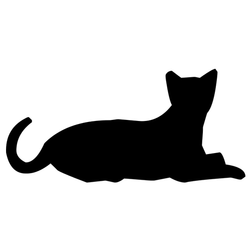 Sterlised Cat Vector