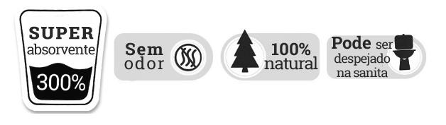 icones do areao de pinho 100% natural